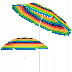 Пляжный зонт с регулируемой высотой и наклоном Springos 180 см BU0009 зонтик солнцезащитный для пляжа и сада