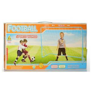 Футбольные металлические ворота MR 0179 123х183х64 см