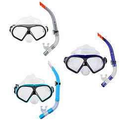 Набор для подводного плавания маска и трубка Dolvor, М9510Р+SN52Р