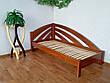 """Белая двуспальная кровать из массива натурального дерева """"Радуга"""" угловая, фото 4"""