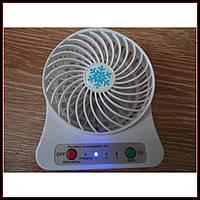 Портативный мини вентилятор 3-х скоростной USB+ аккумулитор, фото 1