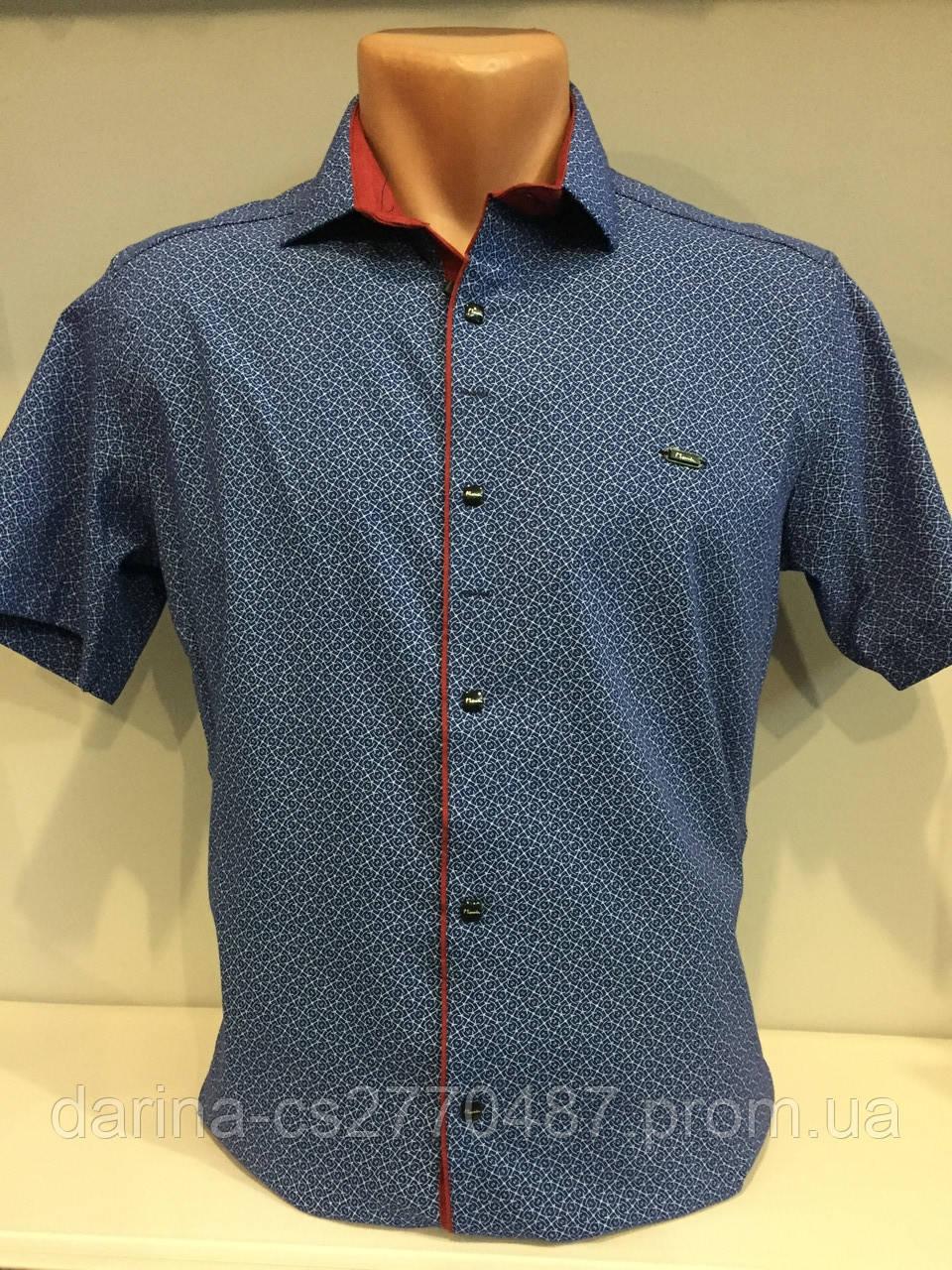 Мужская рубашка с коротким рукавом S-2XL