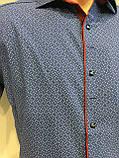 Мужская рубашка с коротким рукавом S-2XL, фото 2