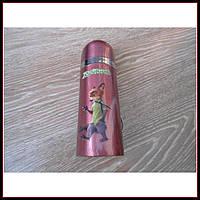 Детский термос для напитков и чая с клапаном Зверополис лиса 350мл, фото 1