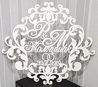 Свадебная монограмма, герб на свадьбу,  весільна монограма