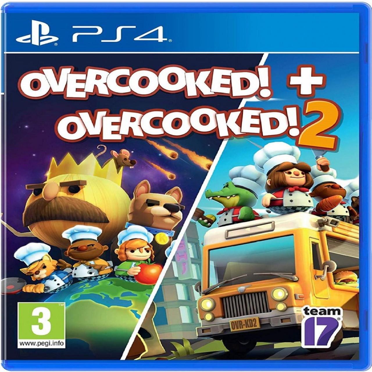Overcooked! + Overcooked! 2 (англійська версія) PS4