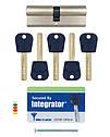 Цилиндр Mul-t-lock Integrator ключ/ключ никель сатин 75 мм, фото 6