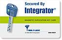 Цилиндр Mul-t-lock Integrator ключ/ключ никель сатин 75 мм, фото 7