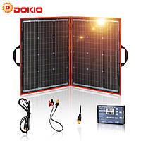 Сонячна панель вологозахищена складна DOKIO FFSP-110W з контролером потужністю на 100W, фото 1