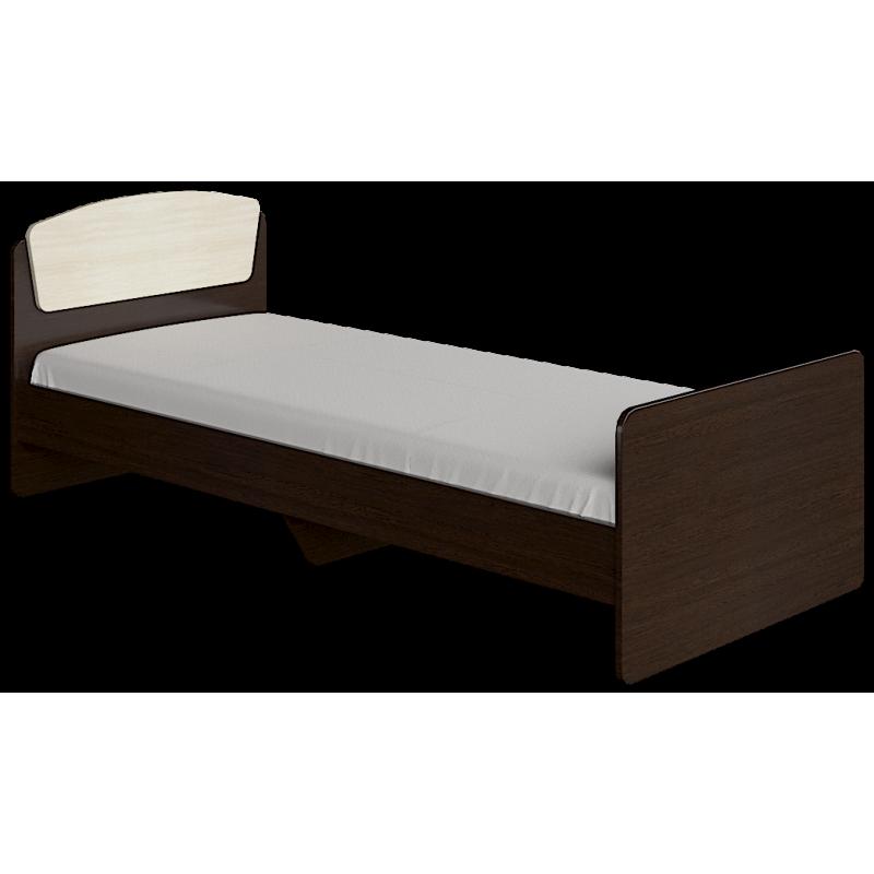 Кровать Астория - 2 Эверест Венге Тёмный-Дуб Молочный