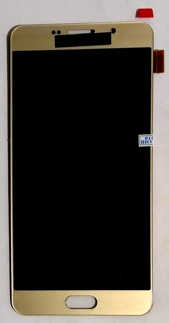 Модуль (сенсор+дисплей) для Samsung A710/A7(2016) OLED Gold