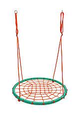 Гойдалки гніздо лелеки до 100 кг Бірюзово помаранчевий Play4Fun, фото 2