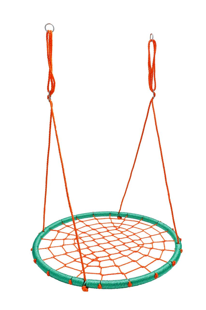 Гойдалки гніздо лелеки до 100 кг Бірюзово помаранчевий Play4Fun