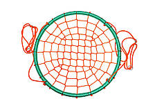 Гойдалки гніздо лелеки до 100 кг Бірюзово помаранчевий Play4Fun, фото 3