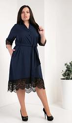 Прекрасное платье-рубашка из супер софта размеры 50,52,54 тёмно-синий