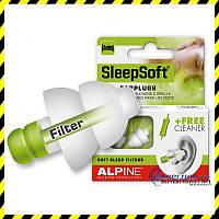 Беруши для сна Alpine SleepSoft + ШЕЛКовая маска + Беруши Deltaplus!