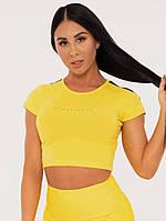 Футболка жіноча BFCAMO Cropped Tee – Yellow, фото 1