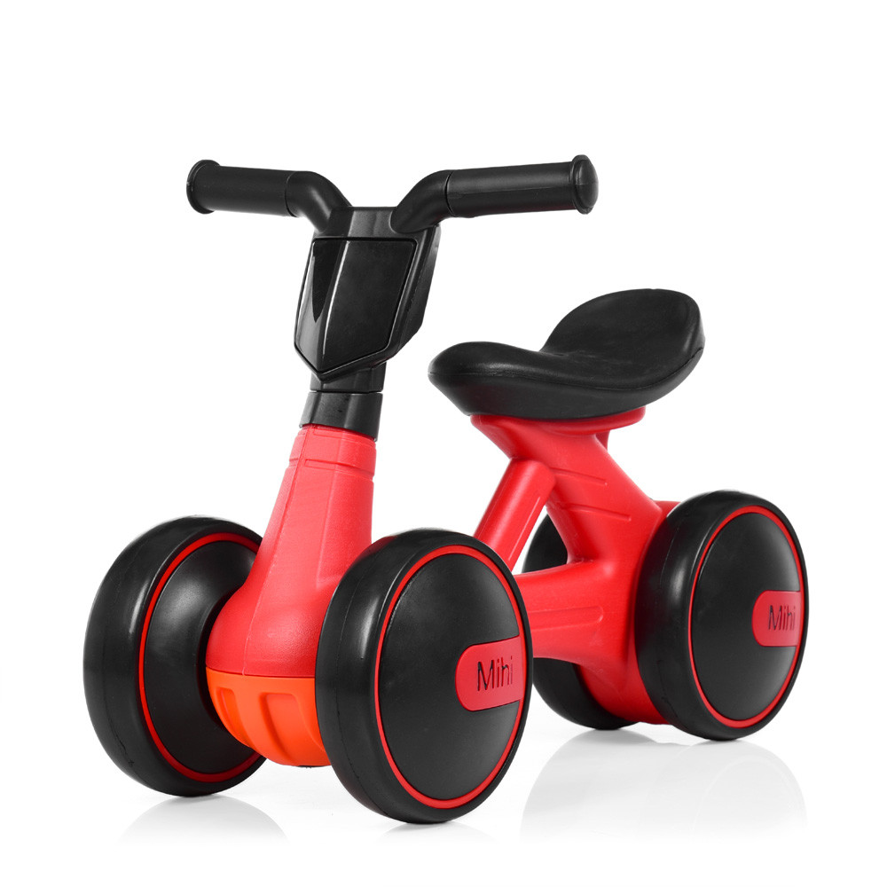 Миниатюрный толокар мотоцикл  для самых маленьких начинающих водителей