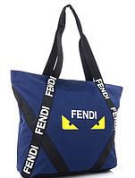 Женская тканевая сумка 102 blue Тканевые сумки недорого, текстильные сумки