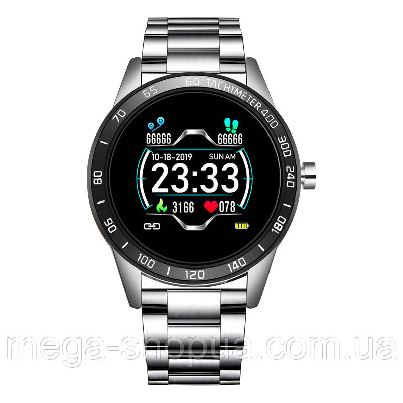 Cмарт-часы с металлическим ремешком Smart Watch Lige HS-B26D Silver
