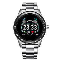 Cмарт-часы с металлическим ремешком Smart Watch Lige HS-B26D Silver, фото 1