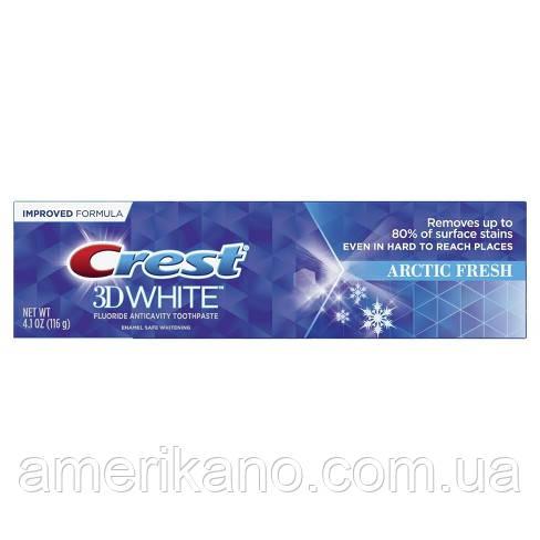 Отбеливающая зубная паста Crest 3D WhiteWhitening Toothpaste Arctic Fresh 85 грамм