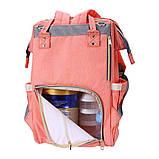 Рюкзак органайзер для мам BEBEWING персиковый, фото 5