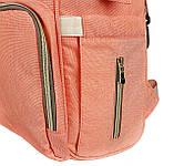 Рюкзак органайзер для мам BEBEWING персиковый, фото 7