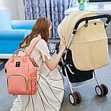 Рюкзак органайзер для мам BEBEWING персиковый, фото 9