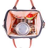 Рюкзак органайзер для мам BEBEWING персиковый, фото 10