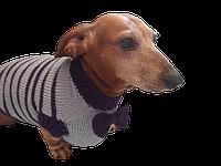Свитер для собаки с бантиком,вязанная одежда для собаки, фото 1