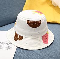 Панама біла Мікс панамка белая кепка детская Морозиво