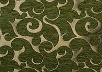 Ткань для перетяжки мебели Acril 50% Флори ДК грин