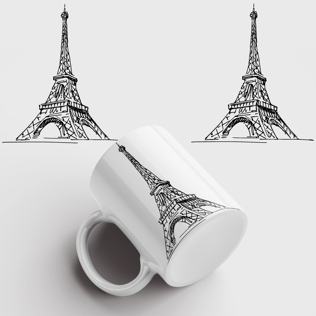 Чашка з принтом Ейфелева Вежа 2