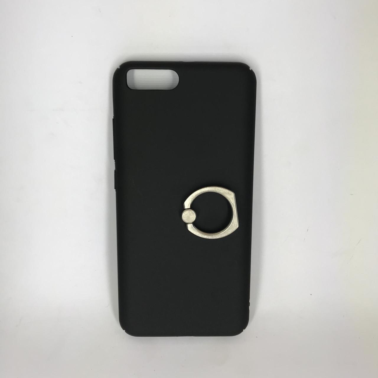 Чехол накладка с кольцом Xiaomi Mi 6 (Черный)