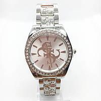 Часы женские наручные Guess (Гесс), серебристые ( код: IBW380S )