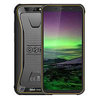 Смартфон желтый ударопрочный с двойной камерой и функцией нфс на 2 симки Blackview BV5500 Pro yellow 3/16 гб