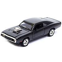 Машинка игровая Автопром «1970 Dodge Charger RT» Черный 18 см (32011), фото 2