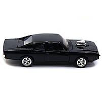 Машинка игровая Автопром «1970 Dodge Charger RT» Черный 18 см (32011), фото 3