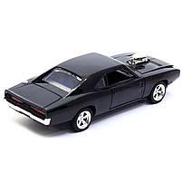 Машинка игровая Автопром «1970 Dodge Charger RT» Черный 18 см (32011), фото 4