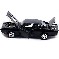 Машинка ігрова Автопром «1970 Dodge Charger RT» Чорний 18 см (32011), фото 6