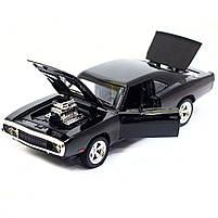 Машинка игровая Автопром «1970 Dodge Charger RT» Черный 18 см (32011), фото 7