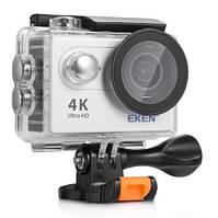 """Экшн камера экен 4К с дисплеем 2"""" и поддержанием блютуза, серебристая EKEN H9 4K silver, фото 1"""
