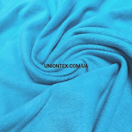 Ткань флис голубая бирюза, фото 2
