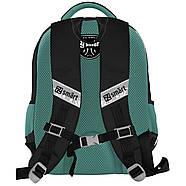 Школьный каркасный рюкзак с ортопедической спинкой SMART SM-05 Air Attack 42х30х13см Черный (558197)+Подарок 3 месяца пользования приложением, фото 2