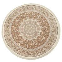 Коврик восточная классика XYPPEM G124 1,5Х1,5 Бежевый с серым круг