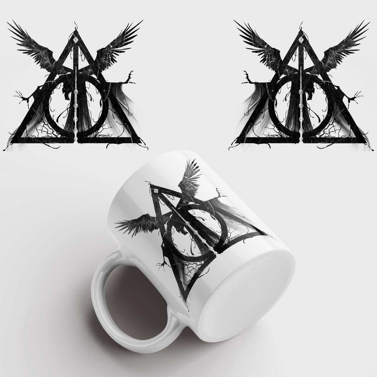 Кружка с принтом Гарри Поттер Дары Смерти арт. Harry Potter art. Чашка с фото
