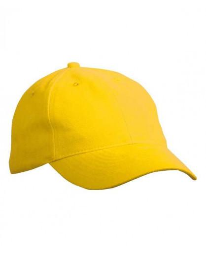 Ярко-желтая стильная молодежная летняя кепка под принт