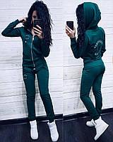 Женский спортивный костюм Converse с капюшоном, жіночий спорт костюм S/M/L/XL (зеленый)