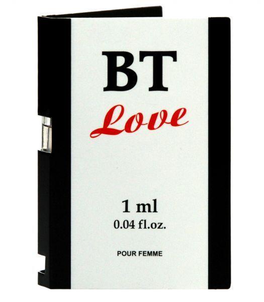 Эротические духи с феромонами женские многокомпонентные BT Love пробник 1 мл